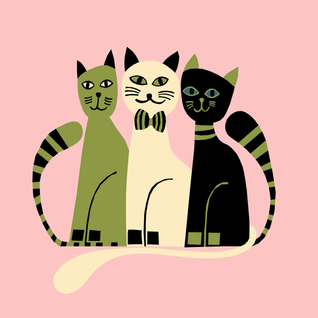 Illustration donated to MEOW Foundation, Canada.