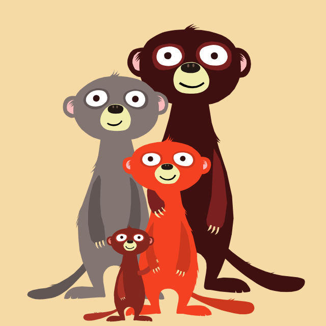The Meerkat Family / Design for Society6