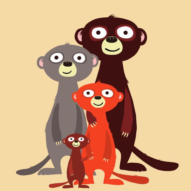 The Meerkat Family / Design for Society6