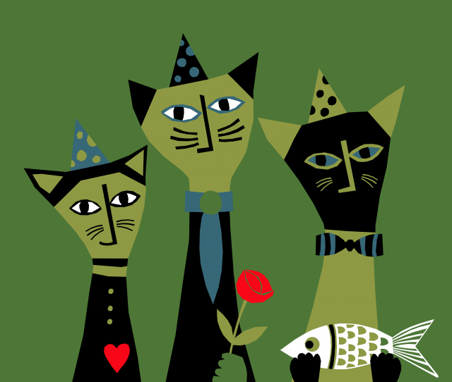 Party Cats / Design for Society6