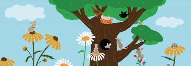 Picture Book Does Mouse Squeak Alone? / Prentenboek Piept kleine muis alleen? | Clavis Publishing