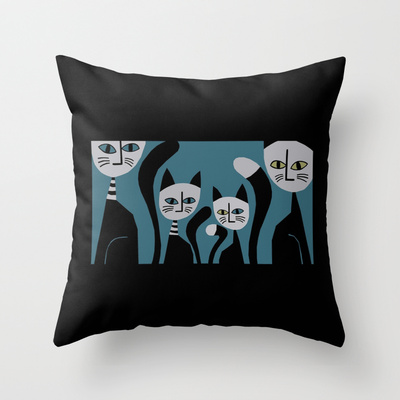 Throw Pillow Cats