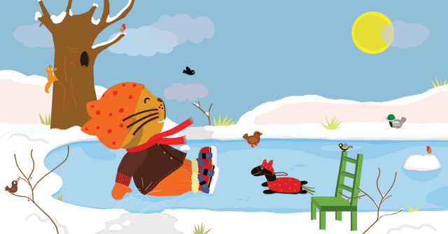 Picture Book Sammy in the Winter / Prentenboek Sammie in de winter | Clavis Publishers