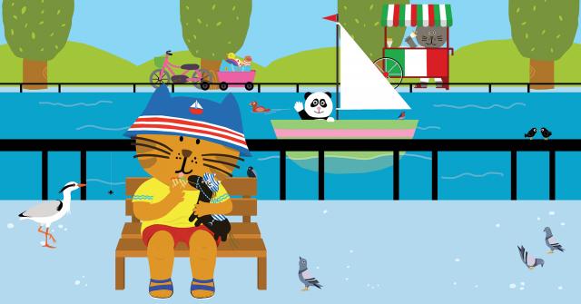 Picture Book Sammy in the Summer / Prentenboek Sammie in de zomer | Clavis Publishers