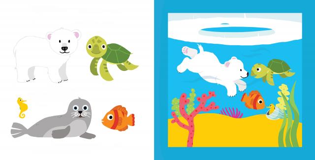 Picture Book Animals in a Row / Prentenboek Diertjes op een rij | Clavis Publishers