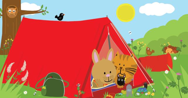 Picture Book Sammy goes Camping / Prentenboek Sammie gaat kamperen | Clavis Publishers