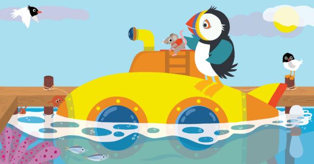 Picture Book Pippa in her Submarine / Prentenboek Pippa in haar duikbootje | Clavis Publishers