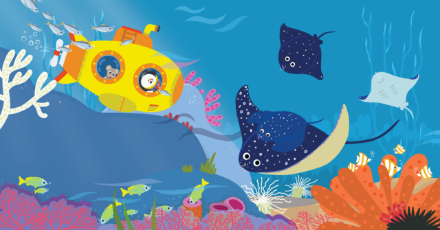 Picture Book Pippa in her Submarine / Prentenboek Pippa in haar duikbootje | Clavis Publishers